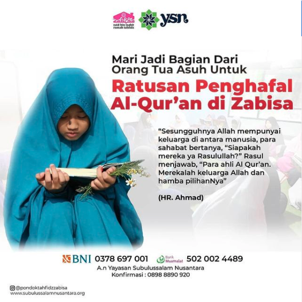 Subulussalam Nusantara Rumah Tahfidz Zabisa